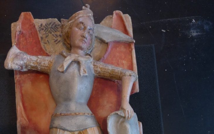 Sotheby's returns rare medieval sculpture to France as British museum curator discovers it was stolen