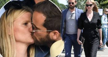 Lara Stone puckers up to boyfriend David Grievson at Wimbledon as she dons chic black jumpsuit