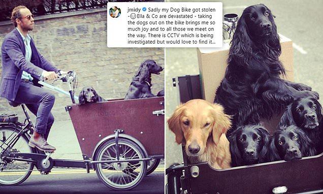 James Middleton pleads for help after his dog bike is stolen