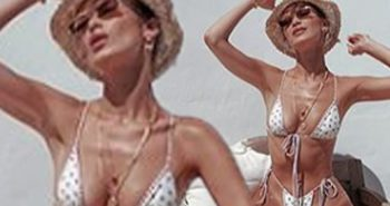 Bella Hadid flaunts her envy-inducing figure in a TINY bikini as she continues Mykonos getaway