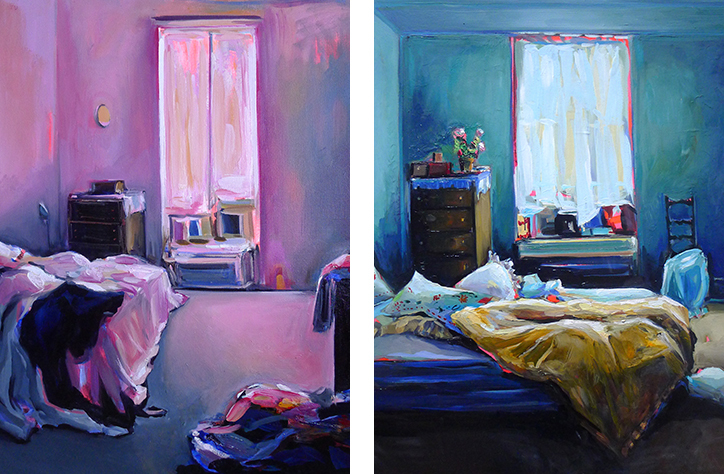 Intimate, safe and romantic: Ekaterina Popova paints the interiors of her friend's bedrooms