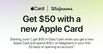 New Apple Card users see $50 bonus with Walgreens partnership this month