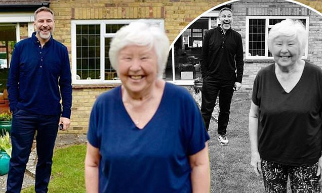 David Walliams shares a sweet snap with his mum Kathleen as they reunite