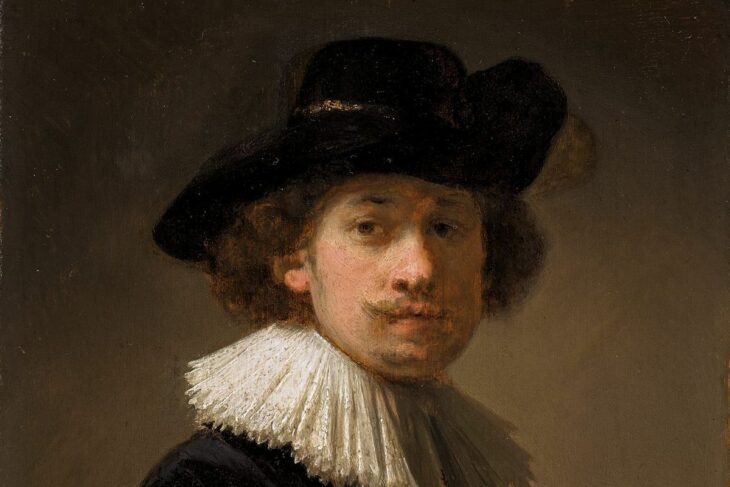 A rare Rembrandt self portrait made to impress his future in-laws may fetch $20 million at a Sotheby's auction