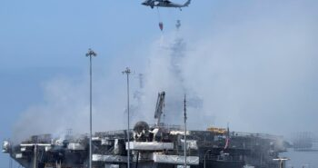 Firefighters put out flames aboard U.S. Navy ship in San Diego; vessel's future unknown – Reuters