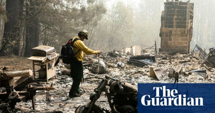 Oregon firefighters continue to battle blazes and scour ruins for the missing
